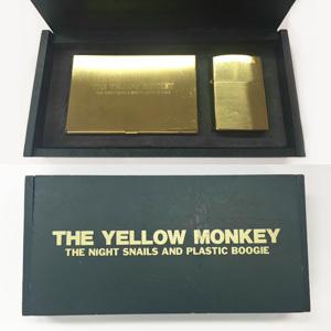 THE YELLOW MONKEY デビュー記念ノベルティグッズ(名刺入れ&Zippo)
